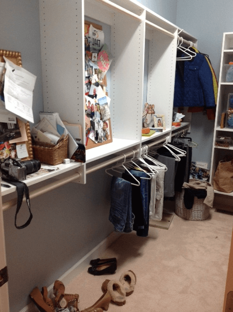 Closet before ORDER by Kate